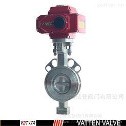 VATTEN高温电动蝶阀 电动不锈钢硬密封阀门