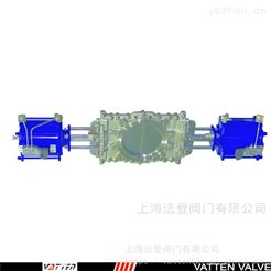 VTPZ973H-10P气动插板阀选型,双刀刀闸阀 德国VATTEN