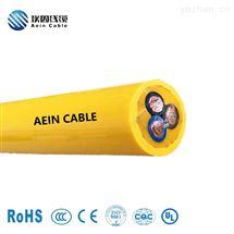 TPU电缆卷盘吊具双护套抗拉卷筒电缆