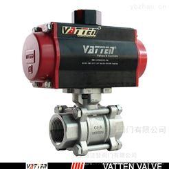 VATTEN软密封气动螺纹球阀 不锈钢过污水球阀