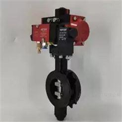 VATTEN气动碳钢高温阀门 气动高性能蝶阀