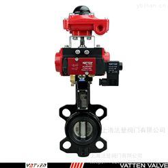 VT1ADW11A气动电磁排污蝶阀,常规耐酸碱气动对夹蝶阀