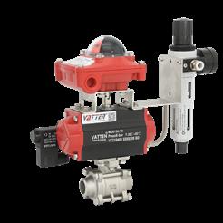 VT1LDC33A气动焊接控制球阀 废水废气排放球阀