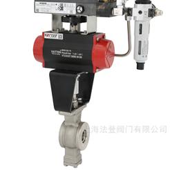 Q641F压滤机设备配套防腐V型球阀 V型对夹球阀