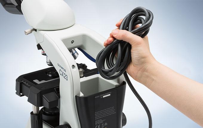 奥林巴斯CX23生物显微镜电缆存放柜