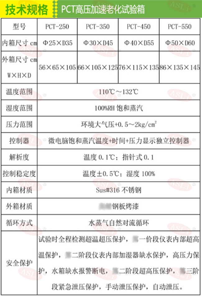 蒸汽老化灭菌锅试验箱技术规格